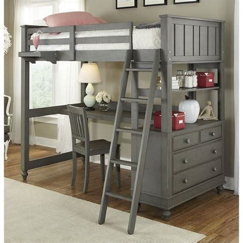 Twin Bed With Desk