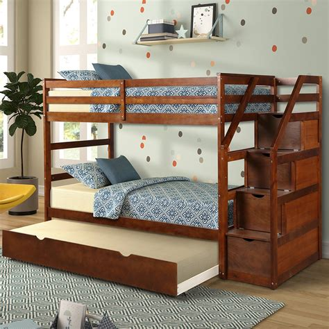 Twin Bed With Stairs