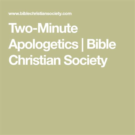 Christian Lawyer Books Two Minute Apologetics Bible Christian Society