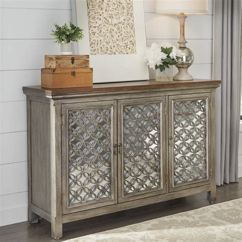 Tyndall Traditional 3 Door Accent Cabinet