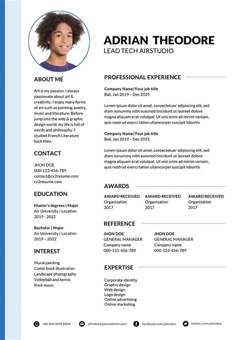 Types Of Resumes 2014 Modern Resume Templates 64 Examples Free Download