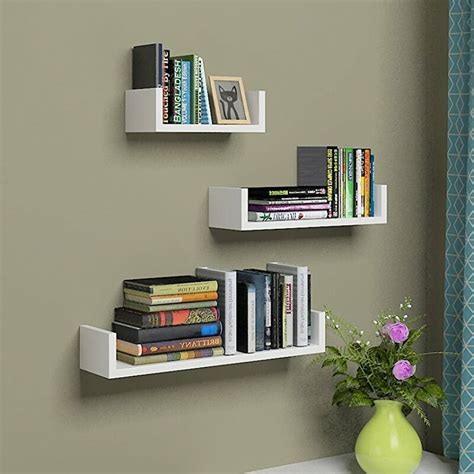 U Shape 3 Piece Floating Shelf Set
