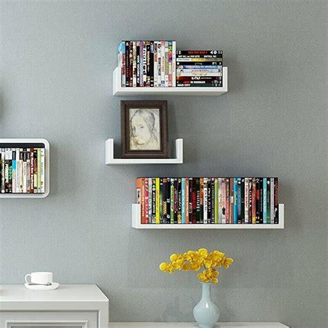 U Shape 3 Piece Floating Shelf Set