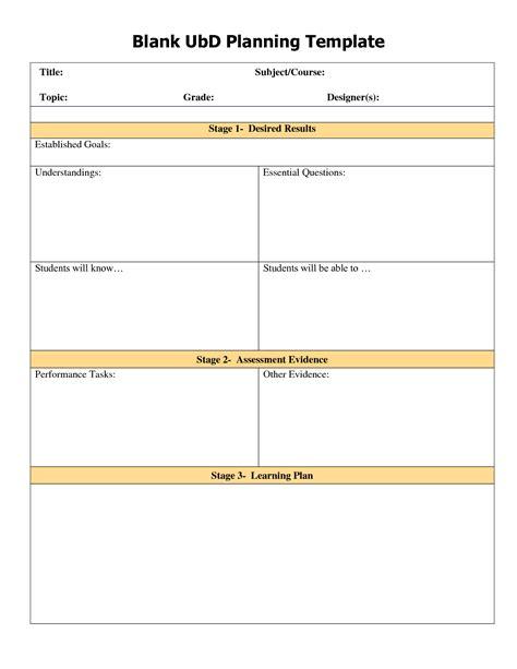 Ubd Planning Template