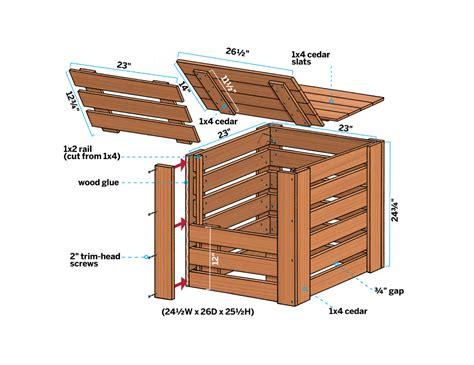 Ubild Composting Bins Woodworking Plan