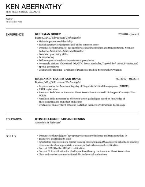 ultrasound resume skills ultrasound technician o ultrasoundtechniciancenterorg - Ultrasound Resume
