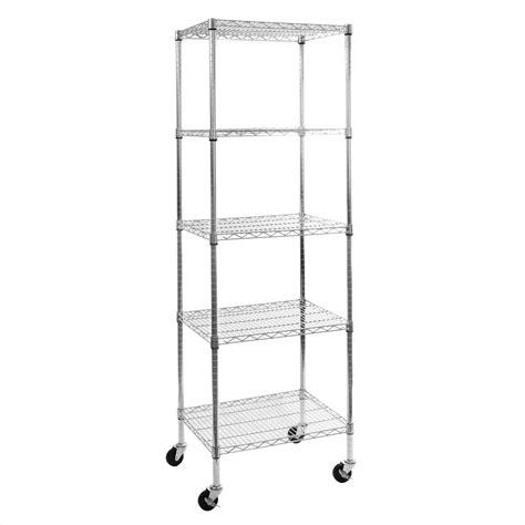 UltraZinc NSF 5-Tier Steel Wire Shelving with Wheels
