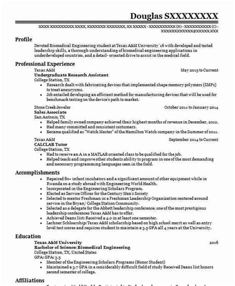 undergraduate engineering resume template resume cover letter