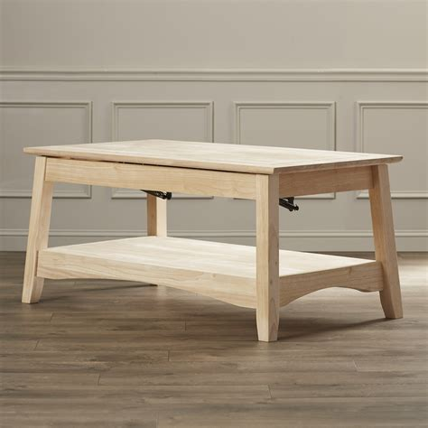 Unfinished Wood Bombay Coffee Table