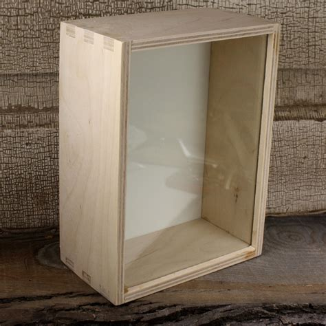 Unfinished Shadow Box With Glass