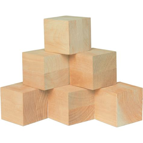 Unfinished Wood Cubes