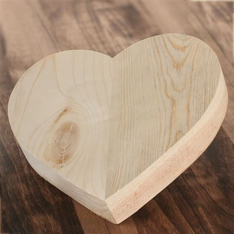 Unfinished Wood Hearts