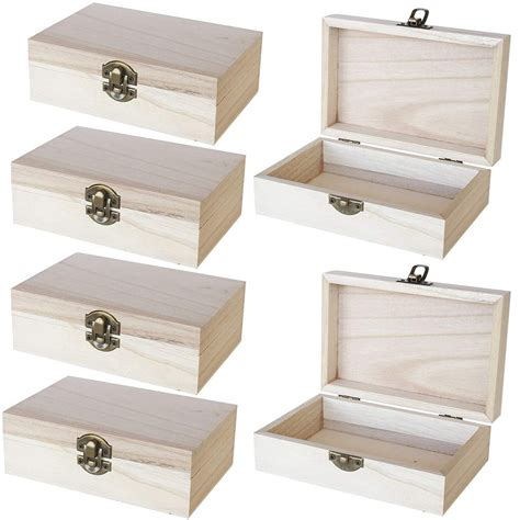Unfinished Wood Jewelry Box With Drawers