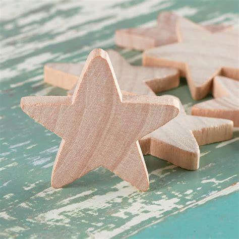 Unfinished Wood Stars