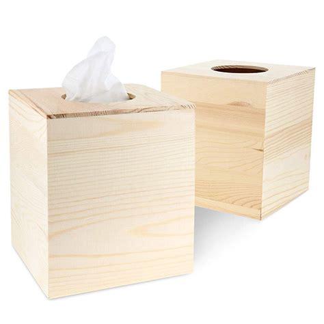 Unfinished Wood Tissue Box