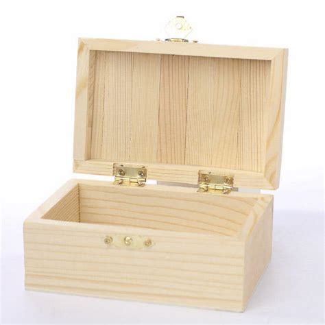Unfinished Wooden Keepsake Box