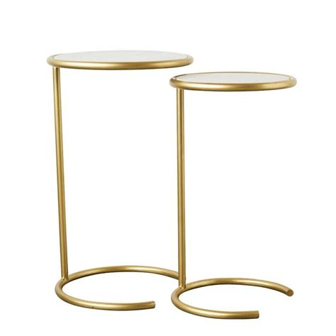 Upham Metal and Marble 2 Piece Nesting Tables