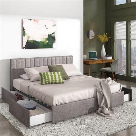 Upholstered Storage Platform Bed byJ&M Furniture