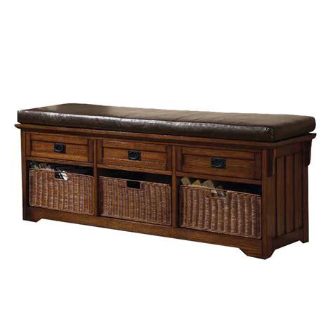 Upland Wooden Storage Bench