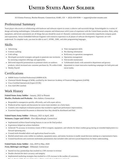 Us Army Resume Examples Resume Generator High School Students - Resume builder army