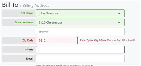 Javascript Validation For Credit Card Details Usability Testing Of Inline Form Validation 40 Dont