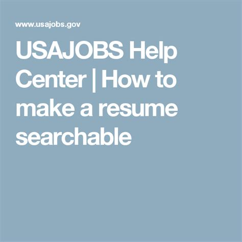 resume format upload usajobs help center how to upload a resume