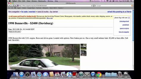 Craigslist-Flint Used Cars And Trucks Craigslist Flint Mi.