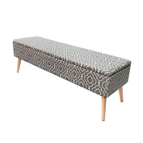 Valdivia Mid Century Upholstered Storage Bench