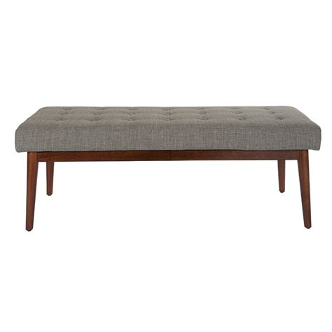 Valera Button Tufted Upholstered Bench