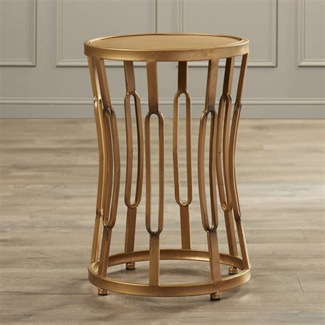 Valerio Hourglass End Table with Metal Top