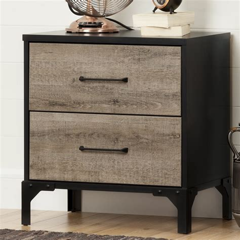 Valet 2 Drawer Nightstand bySouth Shore