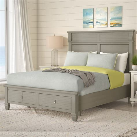 Vasilikos Antique Storage Platform Bed by Beachcrest Home