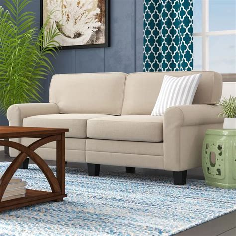 Velvet Sofa Durability Beachcrest Home Buxton 73 Rolled Arm Sofa Reviews Wayfair
