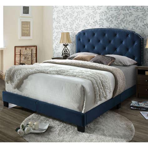 Velvet Tufted Upholstered Panel Headboard