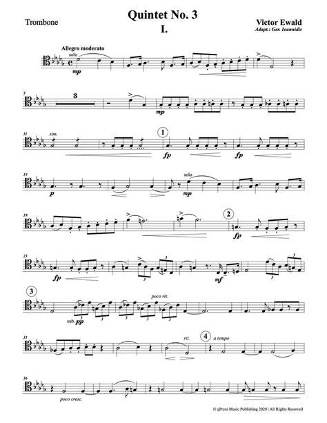 Brass Victor Ewald Brass Quintet No 3.