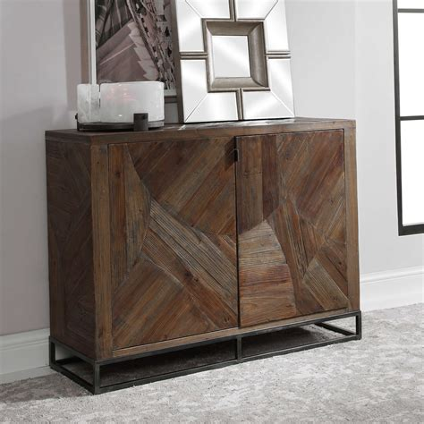 Victoria Reclaimed Wood 2 Door Accent Cabinet