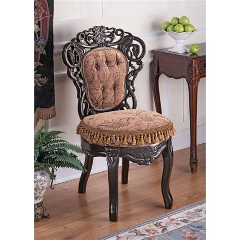 Victorian Parlor Fabric Side Chair