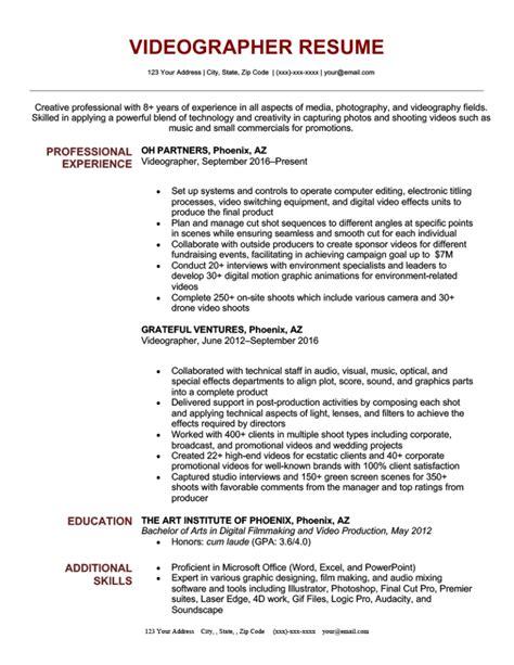 videographer resume sample videographer editor resume sample editor resumes - Videographer Resume Sample