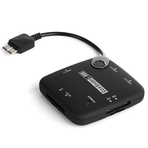 Credit Card Reader For Galaxy S5 Vimvip 3 In 1 Micro Usb Otg Host Adapter Sd Card Reader