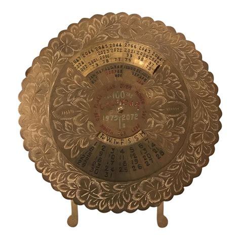 Brass Vintage Brass 100 Year Calendar.