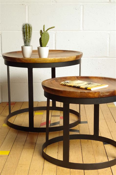 Vintage Industrial Tray Table