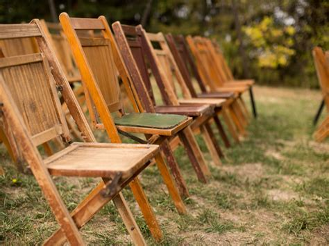 Vintage Folding Wooden Bench