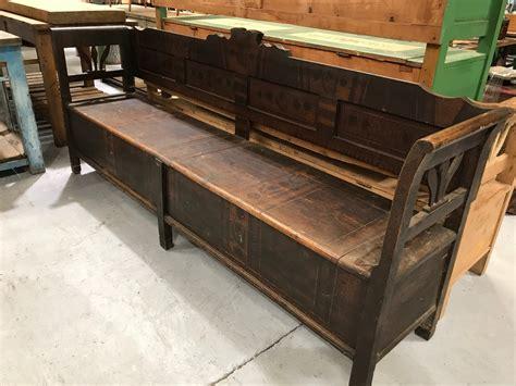 Vintage Wooden Bench Seat