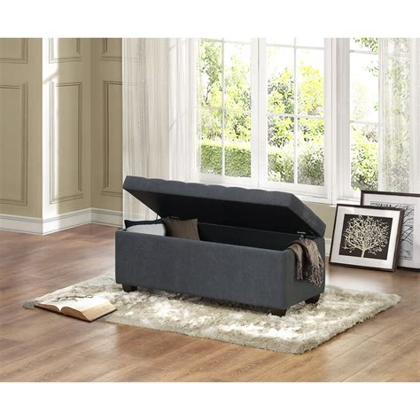 Virgil Upholstered Storage Bench