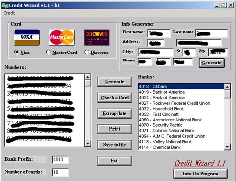 Credit Card Details And Cvv