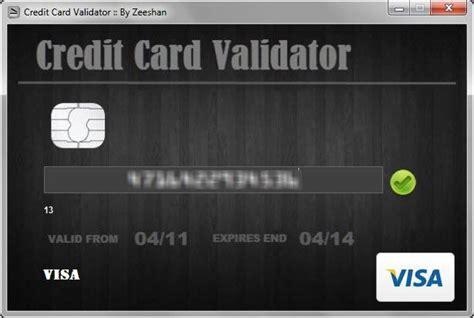 Visa Credit Card For Testing Valid Visa Credit Card Generator Valid Credit Card