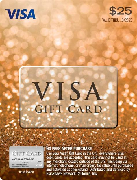 visa gift card international fees fees and charges rbc visa gift cards rbc royal bank - Visa Gift Card For International Use