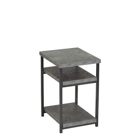 Vlad Slate Faux Concrete Low End Table