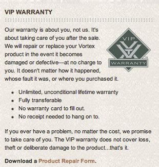 Vortex-Optics Vortex Optics Warranty.