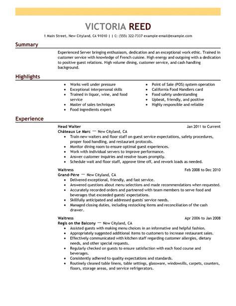 Chef Resumes   Resume Format Download Pdf Resume Objective Server Waitress Job Description For Resume Server